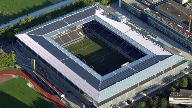 Blick auf das Stade de Suisse Wankdorf.