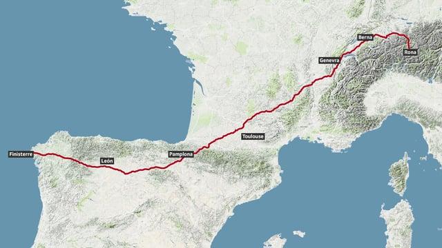 La ruta da Claudio Föhn.