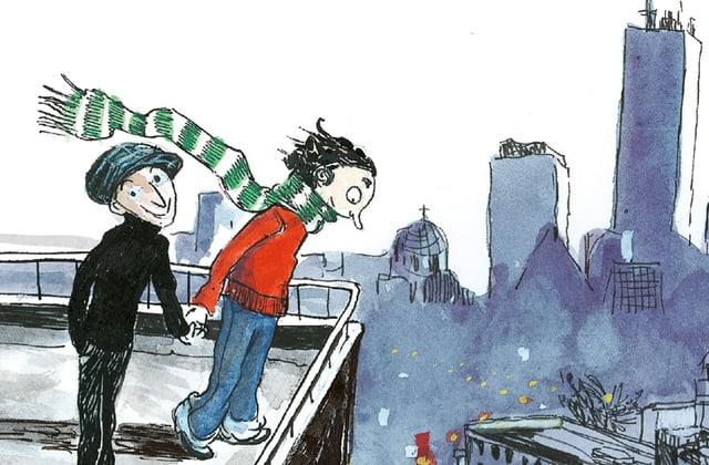 Rosie und Moussa auf dem Dach