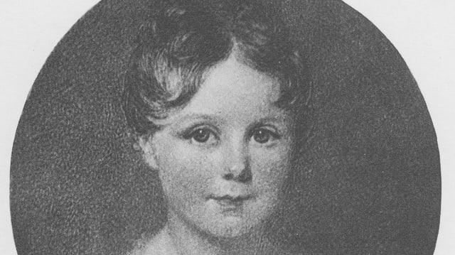 Schwarzweiss-Bild eines kleinen Mädchens
