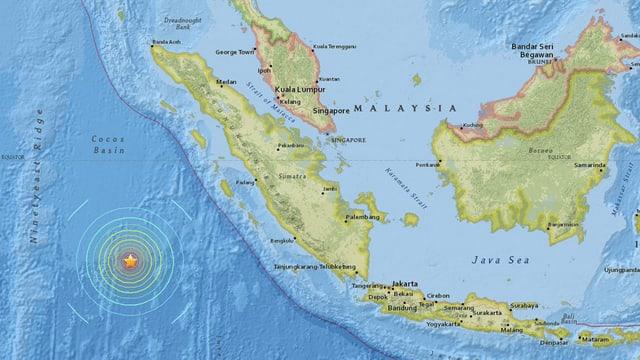 charta cun center dal terratrembel avant Sumatra