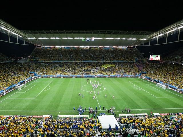 Die Arena Sao Paulo beim Eröffnungsspiel zwischen Brasilien und Kroatien.