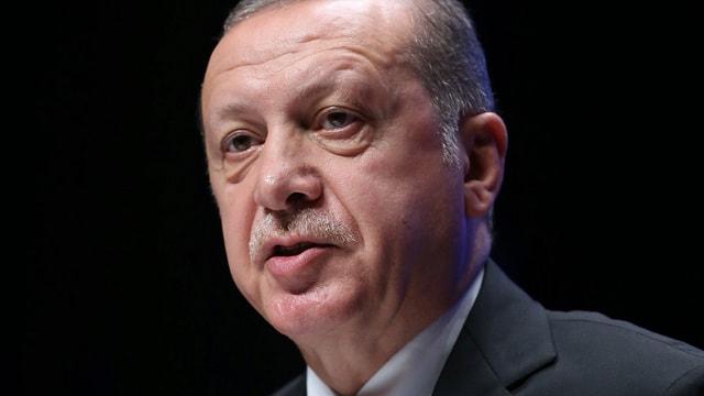 Kopf von Recep Tayyip Erdogan