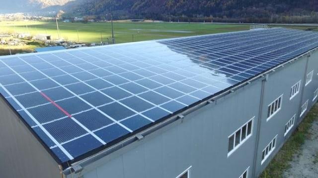 Solarpannels auf Hausdach