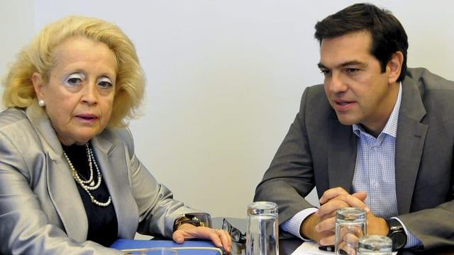 Vasiliki Thanou neben Alexis Tsipras.