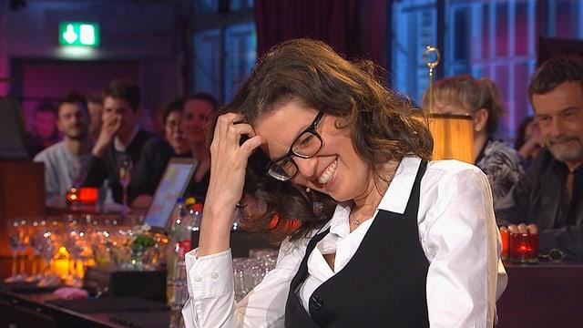 Lachend: die Schweizer Dirigentin Graziella Contratto.