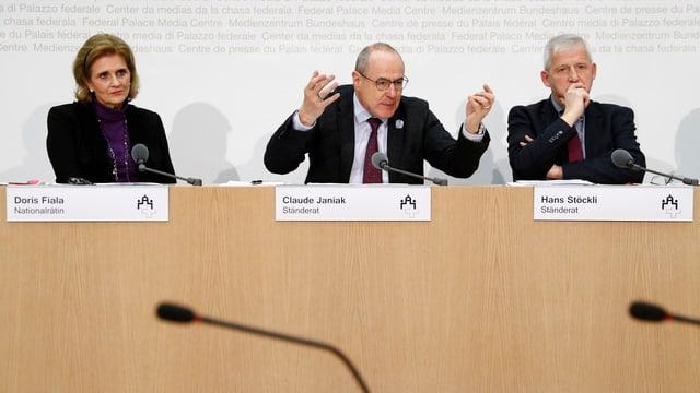 Die GPKs stellen den Bodluv-Bericht vor.