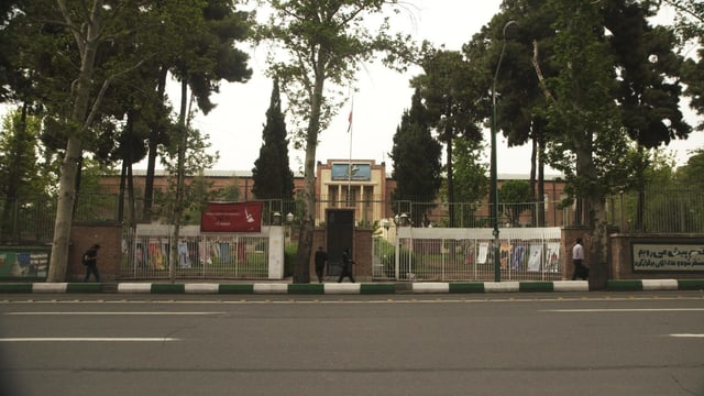Die ehemalige US-Botschaft in Teheran.