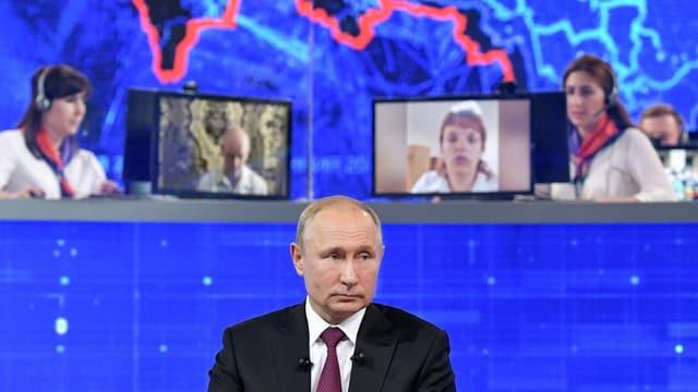 Wladimir Putin während der TV-Sendung.