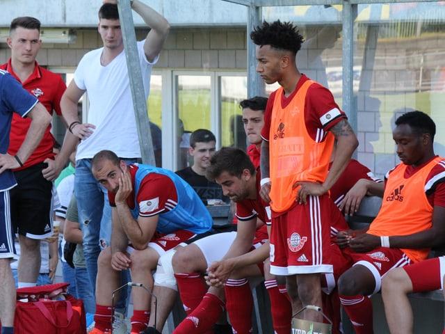 FC Baden Spieler nach dem Spiel