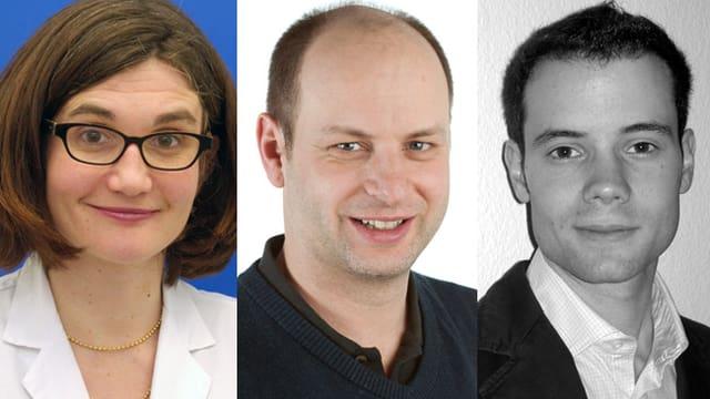 Dr. Susanne Bucher, PD Dr. Cornelia Leo und Dr. Christoph Tausch