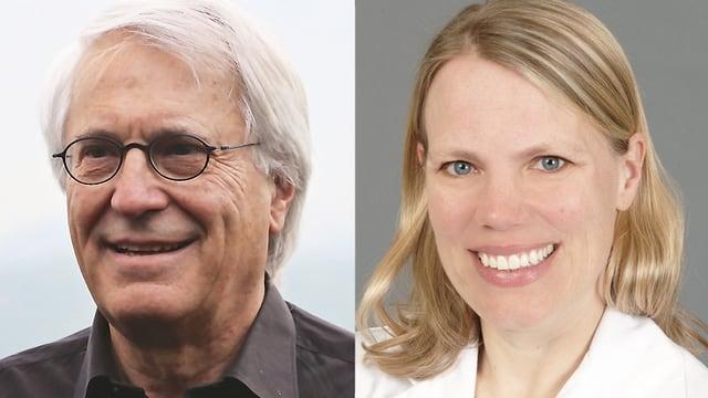 Porträt von Dr. Frank Achermann und Dr. Anne Katrin Borm.