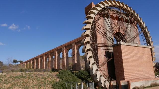 Umlagerungsrad am Viadukt von Aranjuez.