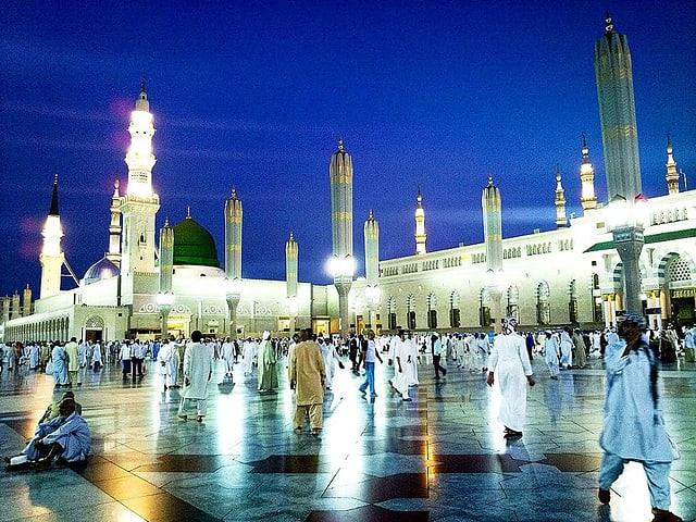 Al Haram Moschee in Medina.