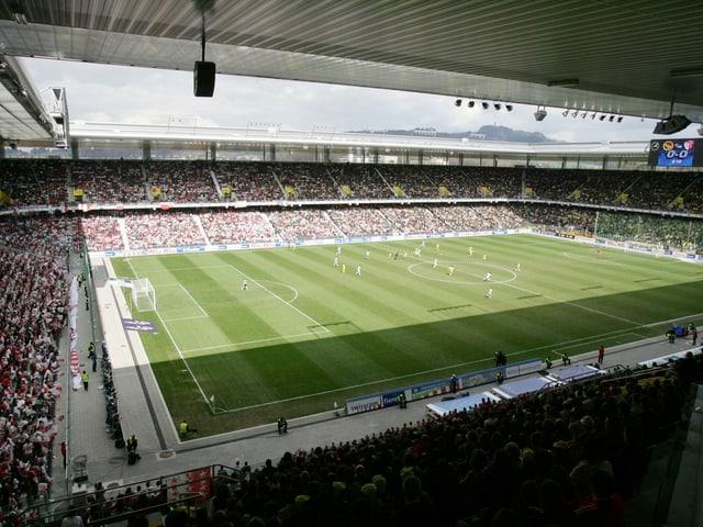 Im Stade de Suisse findet der Final zwischen YB und dem FCZ statt.