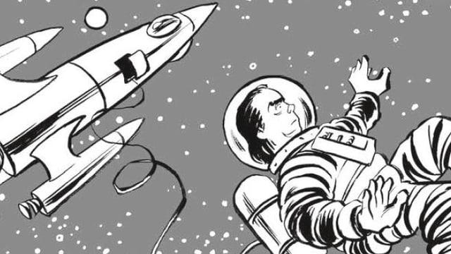 Comic: Nick Cave im Weltall