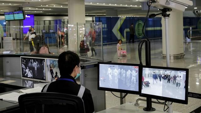 Flughafenüberwachung in Hongkong