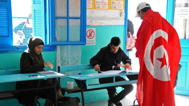Wahlbüro in Tunis.