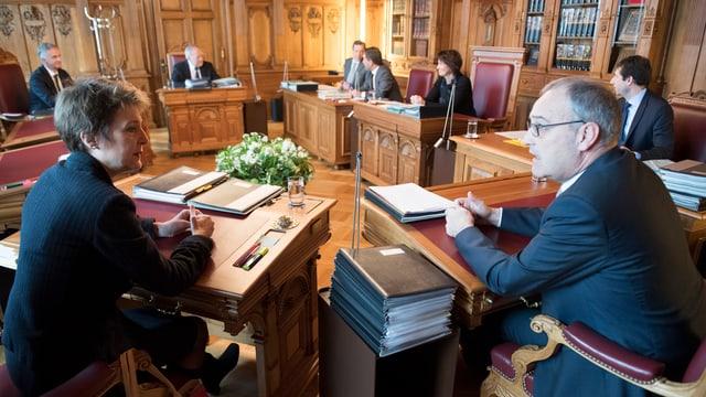 Wer hat Anrecht auf wie viele Bundessratssitze? Seit einem Jahr herrscht die Arithmetik 2-2-2-1.