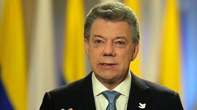 Il president da la Columbia Juan Manuel Santos.