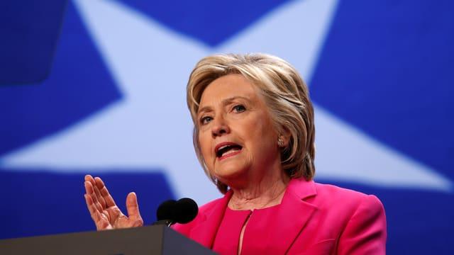 Clinton bei einer Wahlkampfveranstaltung in Washington.