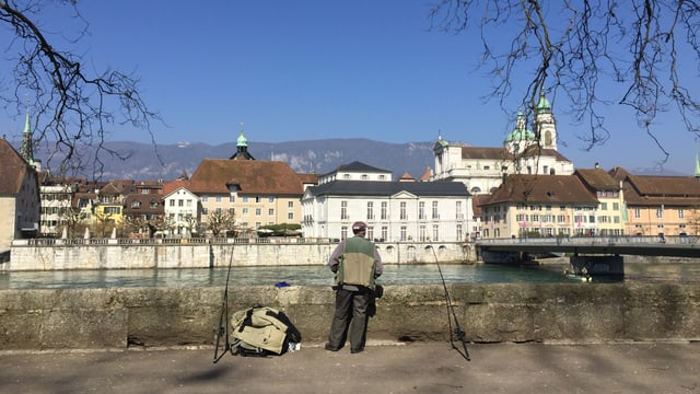 Blick auf die Aare in Solothurn