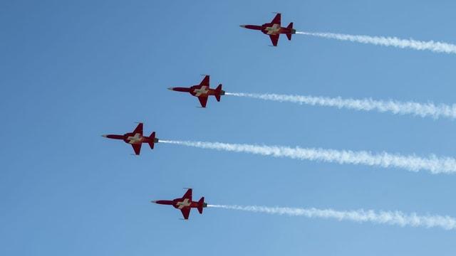 Patrouille Suisse während Flugshow