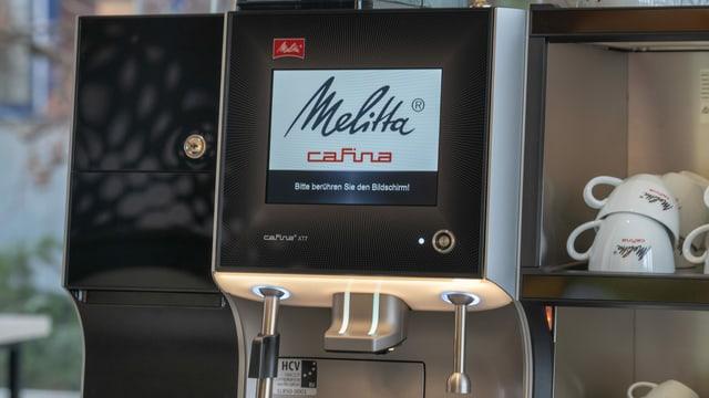 Touchscreen einer Kaffeemaschine.