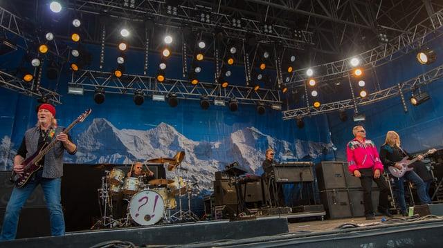 Deep Purple auf der Snowpenair-Bühne.