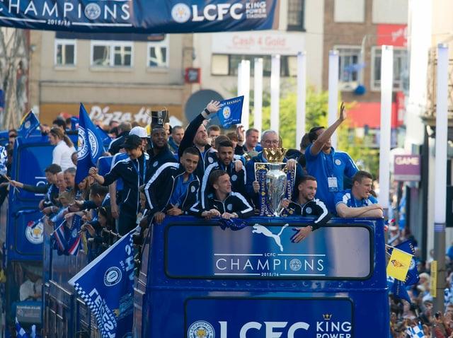 Parade anlässliche Leicesters Meistertitel 2016