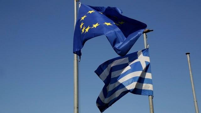 bandieras: UE e Grezia