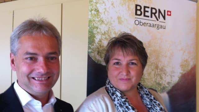 Stefan Costa, Geschäftsführer Region Oberaargau und Uschi Tschannen, Beauftragte Tourismus Region Oberaargau.