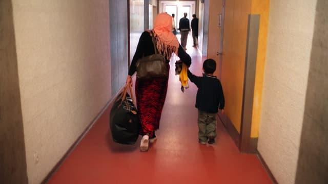 Asylbewerber in der Empfangstelle Basel