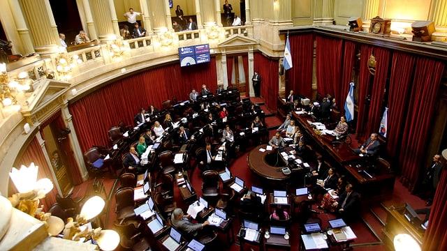 Sitzungssaal des Senats von oben