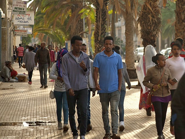 Strassenszene in Asmara.