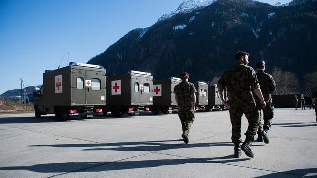 Il militer vegn mobilisà per il coronavirus.