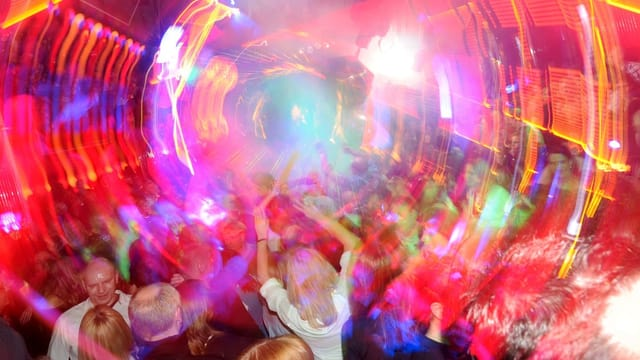 Party mit viel Farben