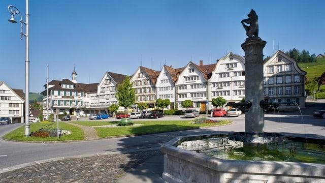 Das Dorfzentrum von Gais.