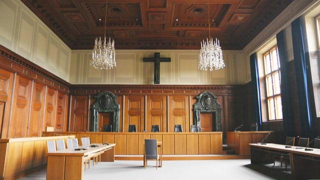 Schwurgerichtssaal 600 im Nürnberger Justizpalast.