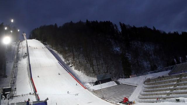 Skisprung-Schanze.