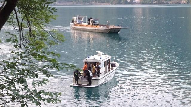 Polizeiboot auf dem Wasser