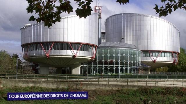 Gebäude des Europäischen Gerichtshofs für Menschenrechte.