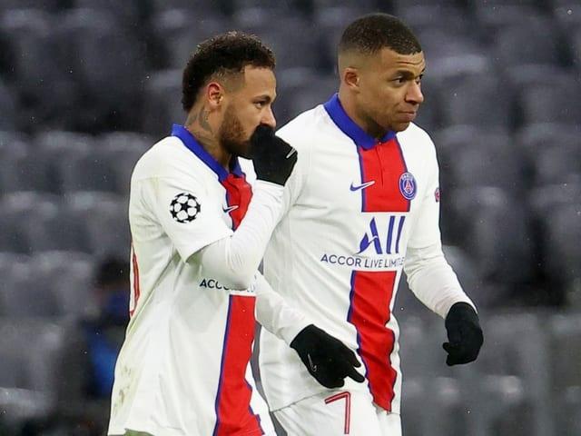 Neymar und Kylian Mbappé.