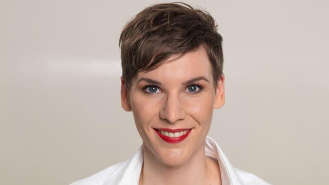 Porträt der 32jährigen Psychologin Caroline Fux.
