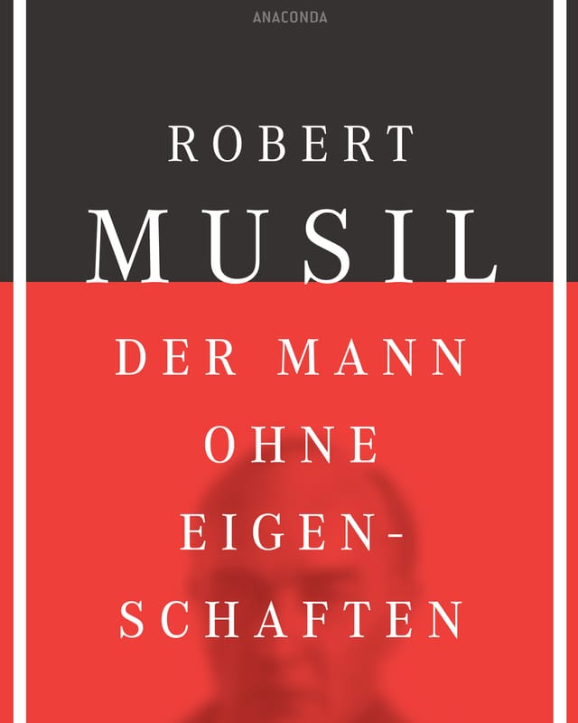 Buchumschlag mit Text: Robert Musil - Der Mann ohne Eigenschaften
