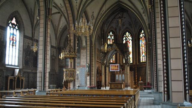 Die Kirche Sta Maria in der Stadt Schaffhausen.