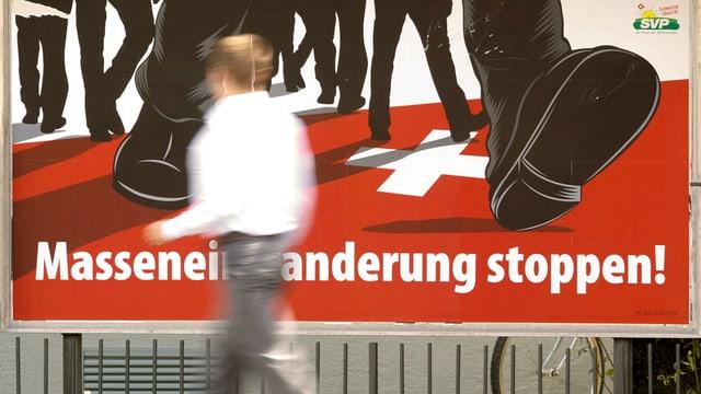 Plakat Masseneinwanderung stoppen!