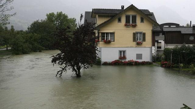 Hochwasser in Sarnen.