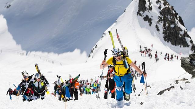 Participants a la Patrouille des Glaciers