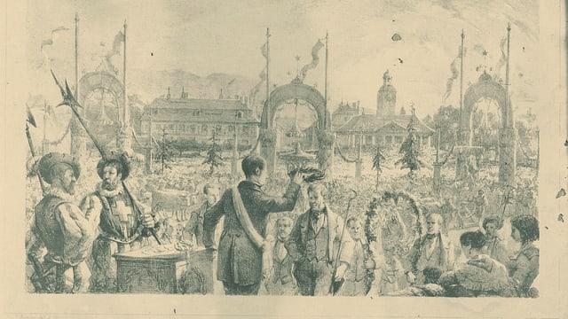 Illustraziun da la festa dal onn 1851.